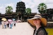 To enter Angkor Wat